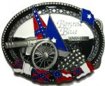 Bonnie Blue Belt Buckle + display stand. Code JL8